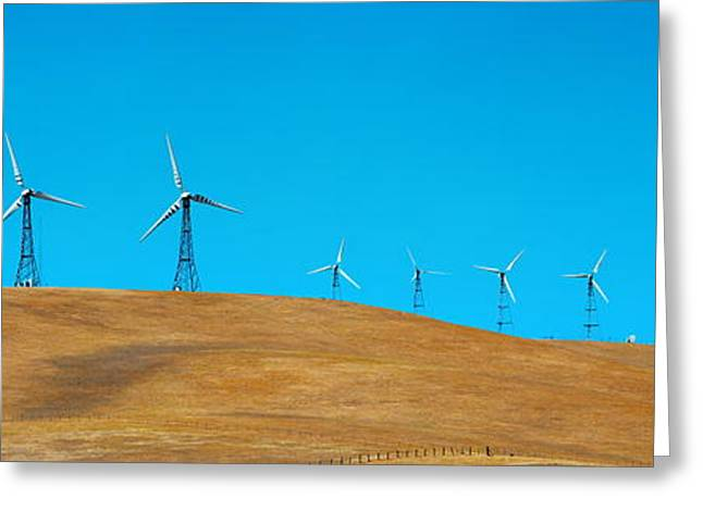 Generators Greeting Cards - Wind turbine Greeting Card by Songquan Deng