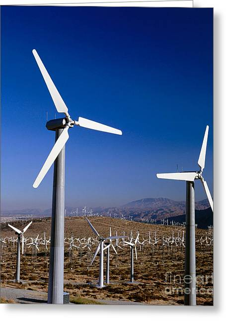 Californian Greeting Cards - Wind Turbines Greeting Card by Jim Corwin