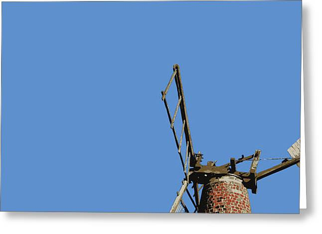 Windvane Greeting Cards - Wind Vane in a Blue Sky Greeting Card by Adrian Hardcastle