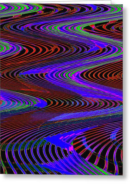 Smart Digital Art Greeting Cards - Winding road Greeting Card by David Lee Thompson
