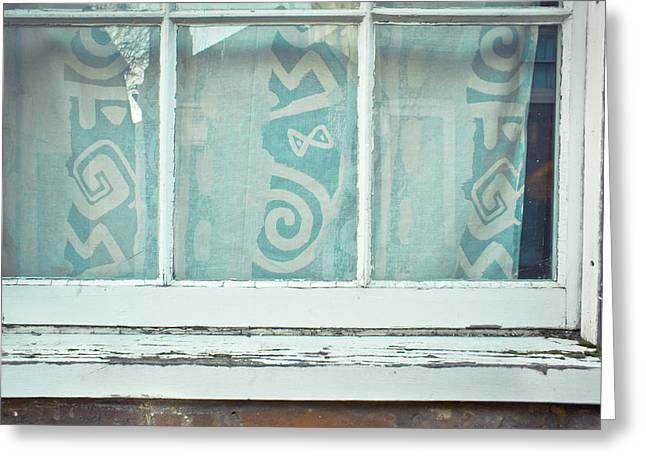Abandoned Houses Greeting Cards - Window frame Greeting Card by Tom Gowanlock