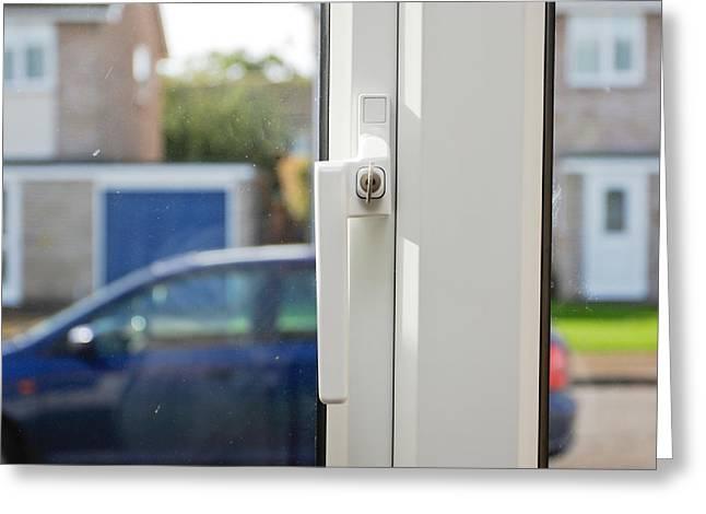 Window lock Greeting Card by Tom Gowanlock