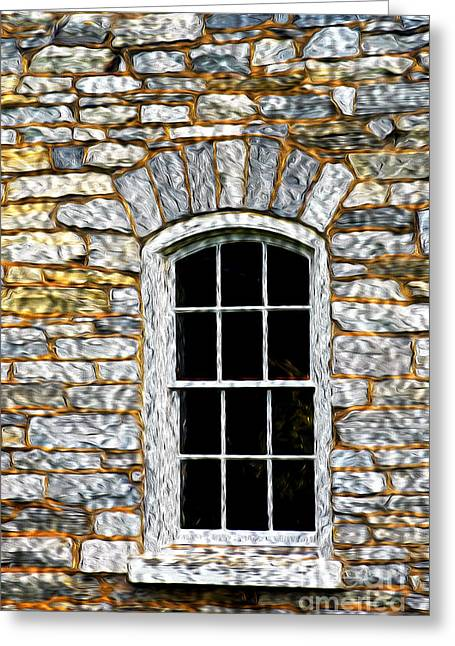 Pa Barns Greeting Cards - Window Greeting Card by Paul W Faust -  Impressions of Light