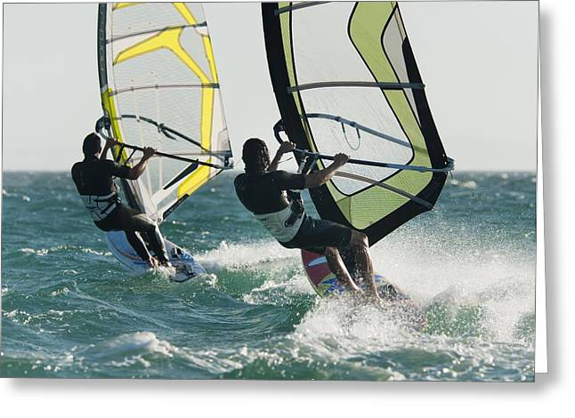 Luz Greeting Cards - Windsurfing Tarifa, Cadiz, Andalusia Greeting Card by Ben Welsh