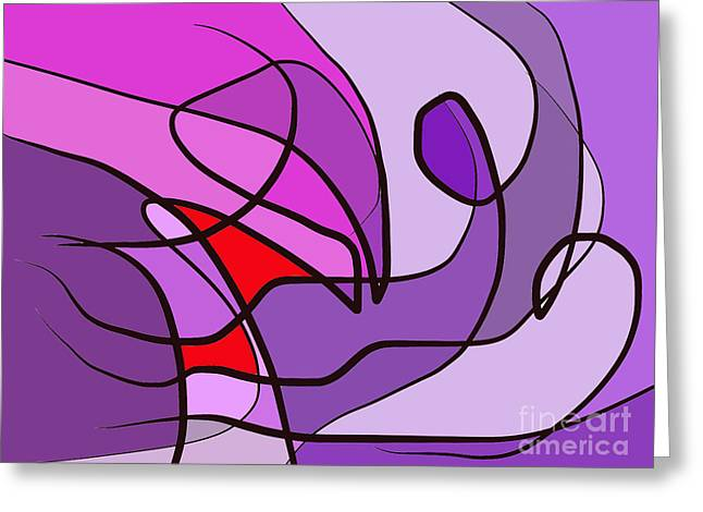 Stormy Weather Drawings Greeting Cards - Windy day Greeting Card by Chani Demuijlder