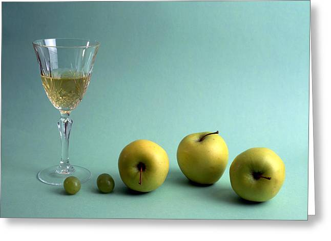 Grape Vineyard Greeting Cards - Wine And Fruits Greeting Card by IB Photo
