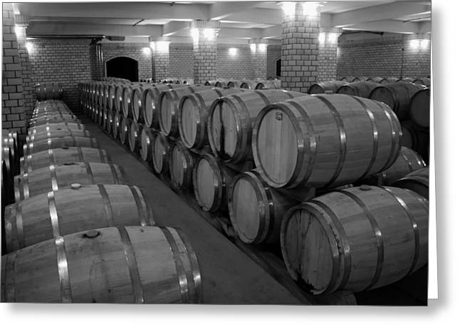 Cellar Greeting Cards - Wine Cellar  Greeting Card by Mountain Dreams