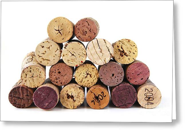 Various Greeting Cards - Wine corks Greeting Card by Elena Elisseeva