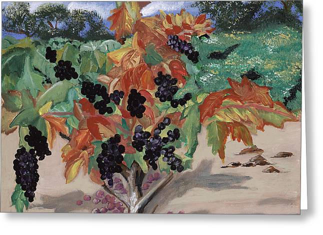 Wine Country Greeting Card by Reba Baptist