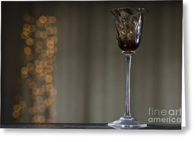 Wine Reflection Art Greeting Cards - Wine glass Greeting Card by Mats Silvan