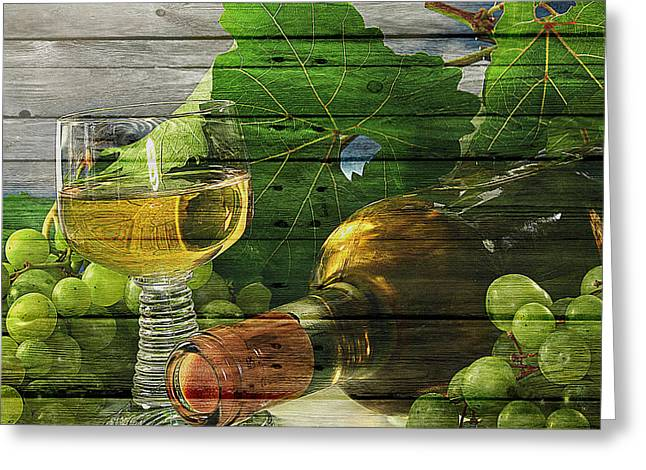 Glass Of Wine Greeting Cards - Wine Greeting Card by Joe Hamilton