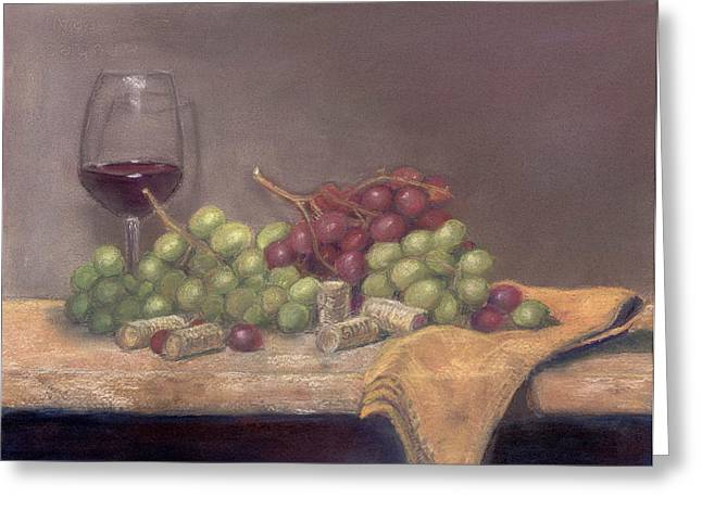 Sonoma Pastels Greeting Cards - Wine Tasting Greeting Card by Ellen Minter