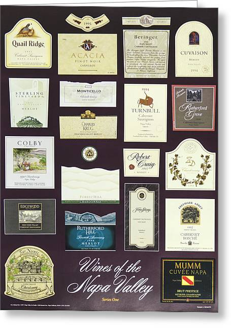 Vineyard Poster Greeting Cards - Wines of the Napa Valley - Series 1 Greeting Card by J Michael Orr