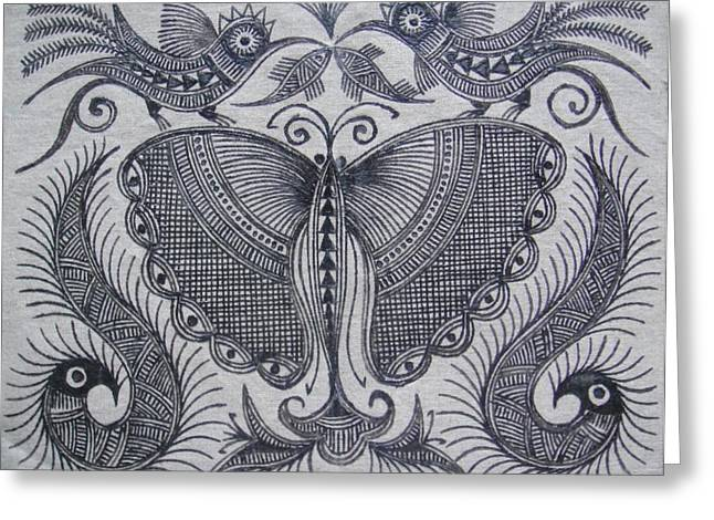 Phoenix Tapestries - Textiles Greeting Cards - Wings and Limbs Greeting Card by Stephen Kayode