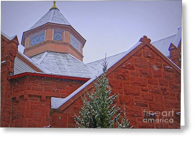 Snowy Evening Digital Art Greeting Cards - Winter Angles Greeting Card by Mike Griffiths