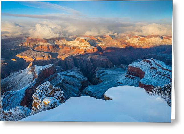 The Grand Canyon Greeting Cards - Winter at the Grand Canyon Greeting Card by Adam Schallau