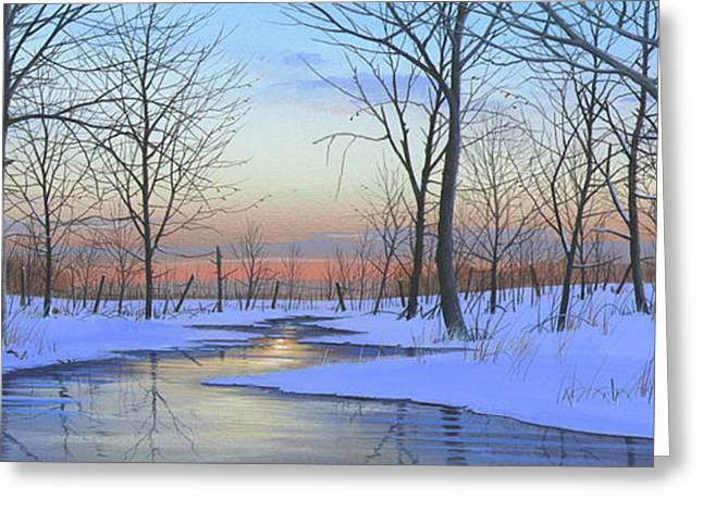 Snow Tree Prints Greeting Cards - Winter Calm Greeting Card by Mike Brown