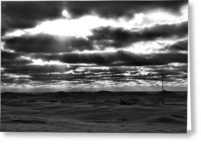Winter Desolation Greeting Card by Dan Sproul