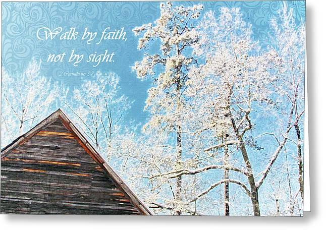 Blind Faith Greeting Cards - Winter Holiday 5 Greeting Card by Anita Faye