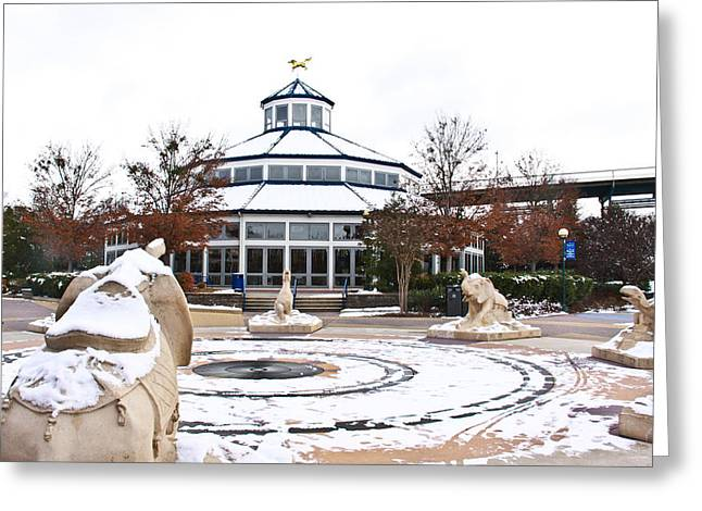 Coolidge Park Greeting Cards - Winter in Coolidge Park Greeting Card by Tom and Pat Cory
