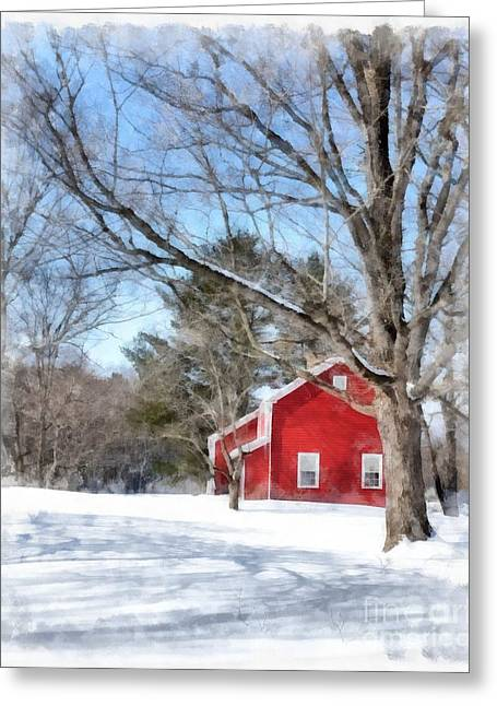 Winter Classic Greeting Cards - Winter in Vermont Greeting Card by Edward Fielding