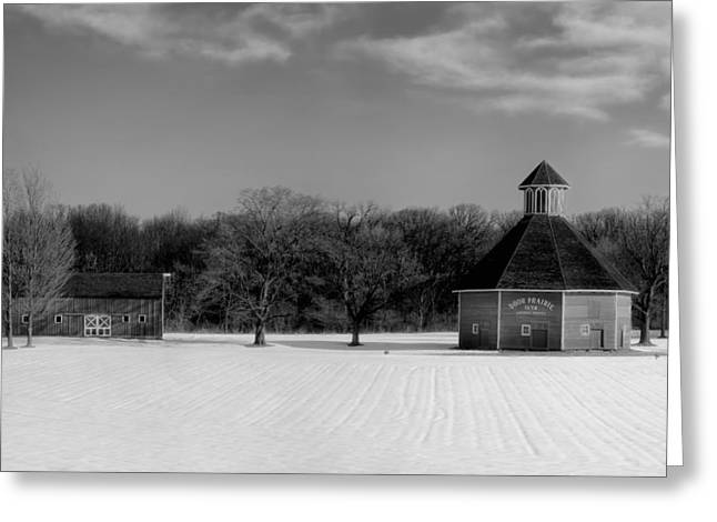 Indiana Winters Greeting Cards - Winter Indiana Farm Greeting Card by Mountain Dreams