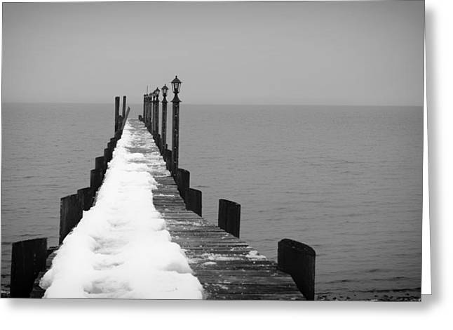 Winter Photos Greeting Cards - Winter Jetty Greeting Card by Mountain Dreams