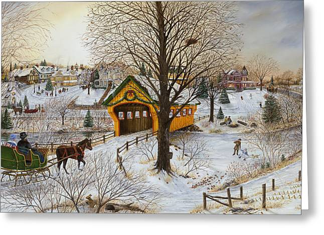 Snow-covered Landscape Greeting Cards - Winter Memories Greeting Card by Doug Kreuger
