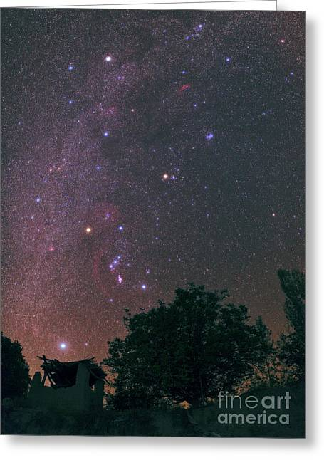 Sirius Greeting Cards - Winter Milky Way Greeting Card by Babak Tafreshi