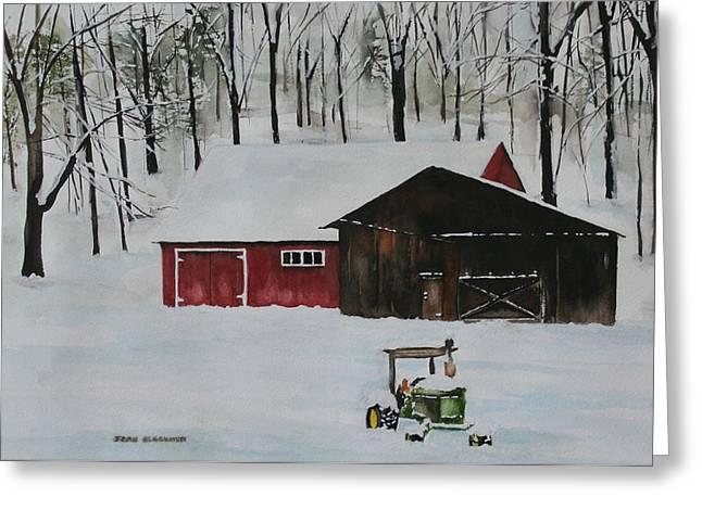Jean Blackmer Greeting Cards - Winter Solitude Greeting Card by Jean Blackmer