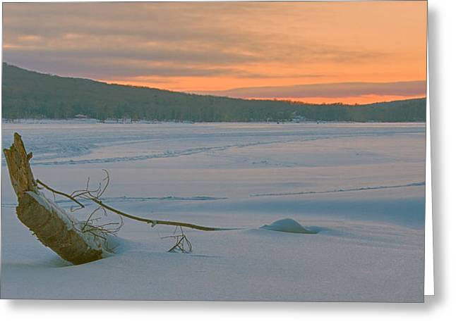 Deep River County Park Greeting Cards - Winter Sunrise Greeting Card by Neal Blizzard