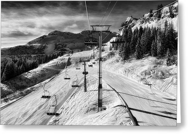 Hdr Landscape Greeting Cards - Winter Weekend Greeting Card by Mountain Dreams