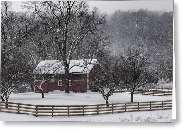 Snowy Evening Greeting Cards - Winter Wonder Greeting Card by Ann Bridges