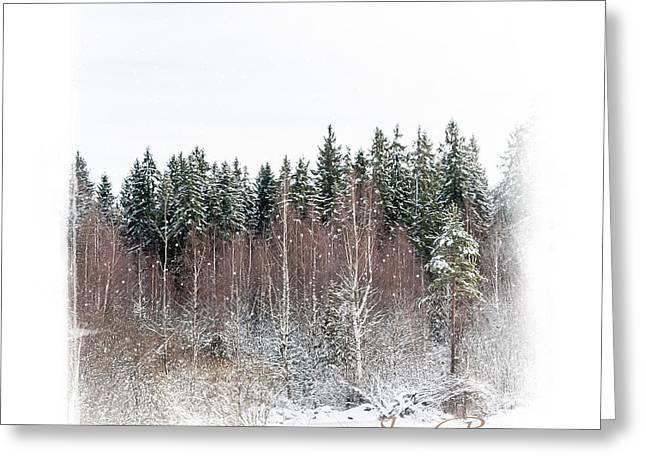Snow Scene Landscape Greeting Cards - Winter Wonderland. Elegant KnickKnacks from JennyRainbow Greeting Card by Jenny Rainbow