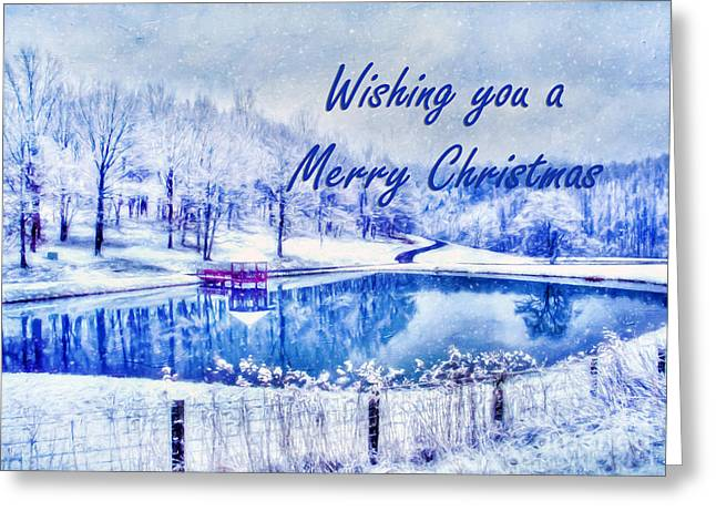 Winter Scenes Rural Scenes Greeting Cards - Winters Calm Greeting Card by Darren Fisher