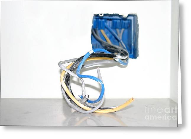 Wire Box Greeting Card by Henrik Lehnerer