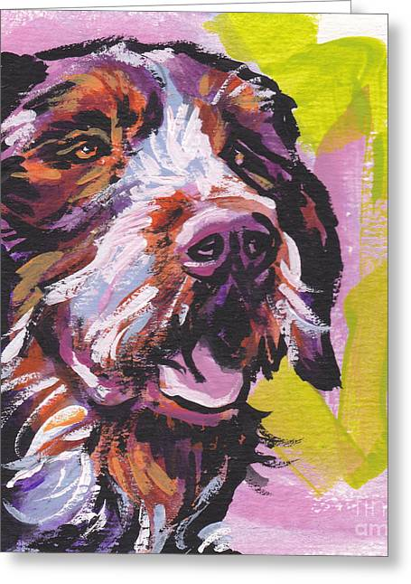 Wire Paintings Greeting Cards - Wired Greeting Card by Lea