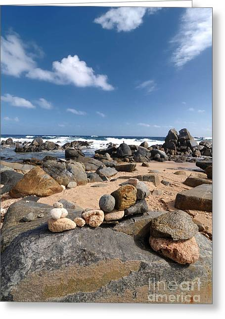 Wish Greeting Cards - Wishing Rocks Aruba Greeting Card by Amy Cicconi
