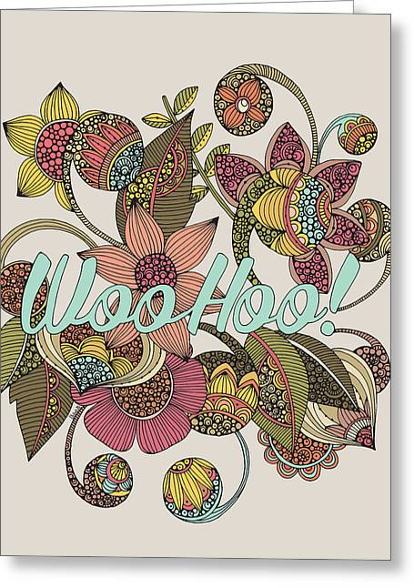 Celebrate Digital Art Greeting Cards - Wohoo Greeting Card by Valentina