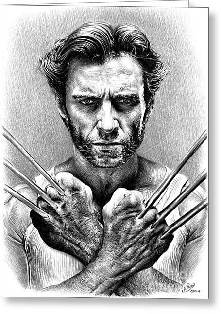 White Beard Greeting Cards - Wolverine Greeting Card by Andrew Read