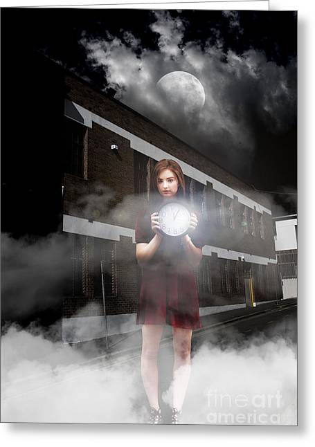 Woman After Midnight Greeting Card by Jorgo Photography - Wall Art Gallery