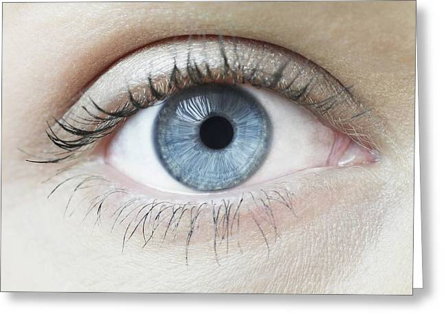 Woman's Eye Greeting Card by Science Photo Library
