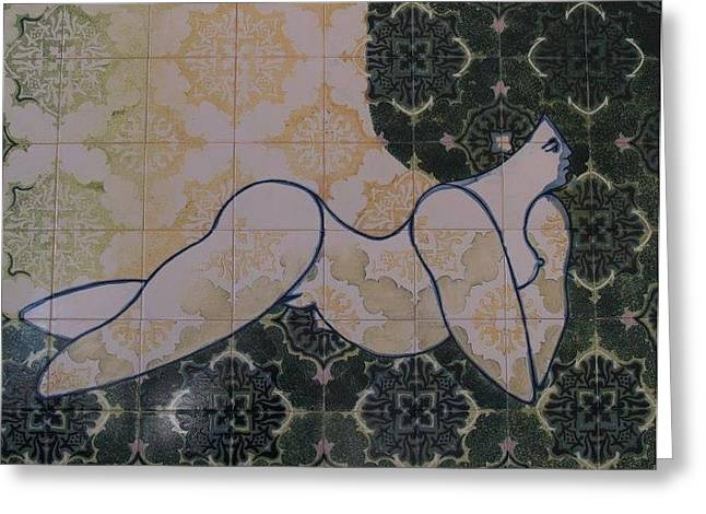 Ceramics Ceramics Greeting Cards - On the Green Greeting Card by Artur Louro
