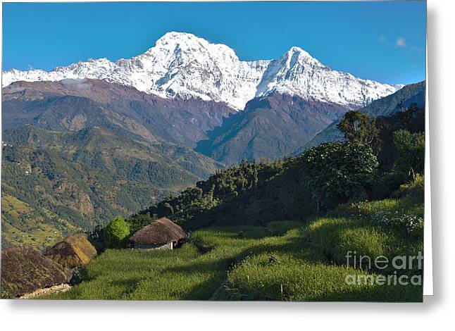 Wonderful Views Of Holy Annapurna South Photo By Artmif Greeting Card by Raimond Klavins