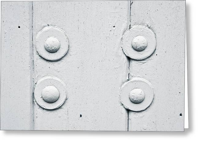 Wood and bolts Greeting Card by Tom Gowanlock