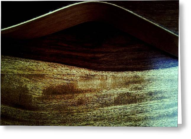 Noise . Sounds Photographs Greeting Cards - Wood Body horizontal  Greeting Card by I F Abbie Shores