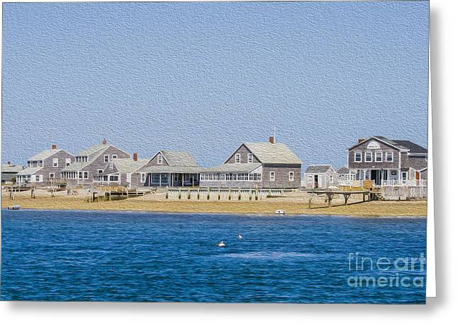 Chatham Greeting Cards - Wooden houses on Cape Cod Greeting Card by Patricia Hofmeester
