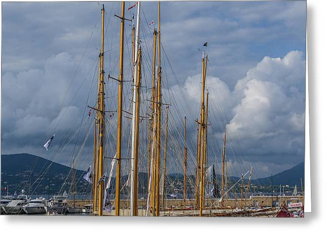 St.tropez Greeting Cards - Wooden Masts Greeting Card by Christian Baumgart