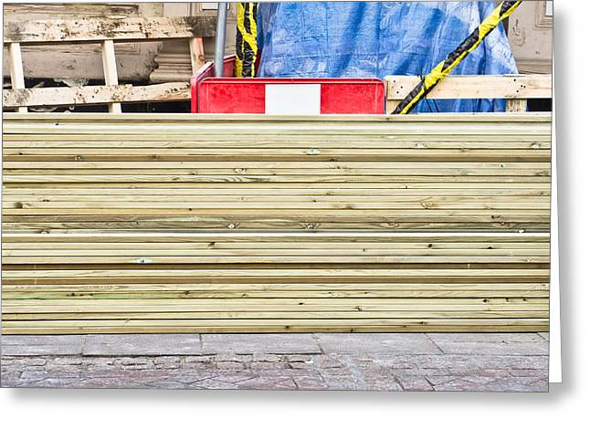 Wooden Planks Greeting Card by Tom Gowanlock