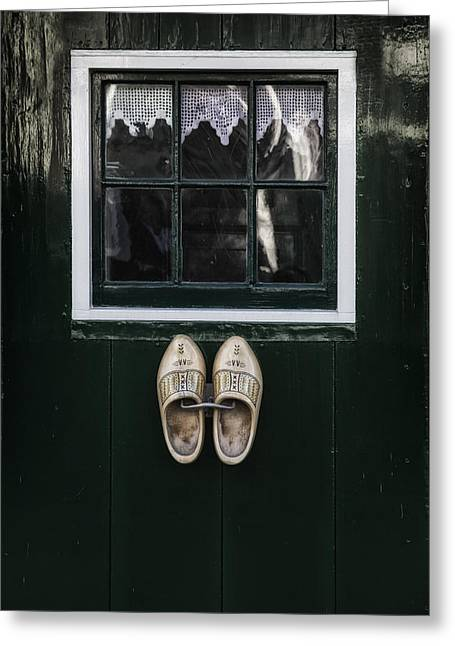 Dutch Greeting Cards - Wooden Shoes Greeting Card by Joana Kruse